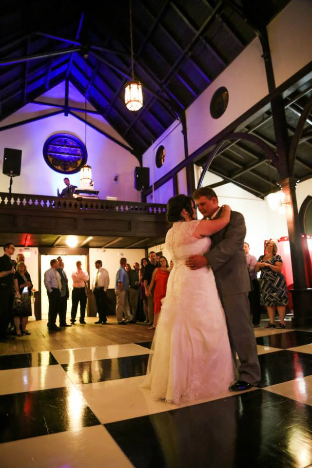 Hannah & Brandon DJ for Raleigh Wedding at All Saints Chapel Raleigh 5