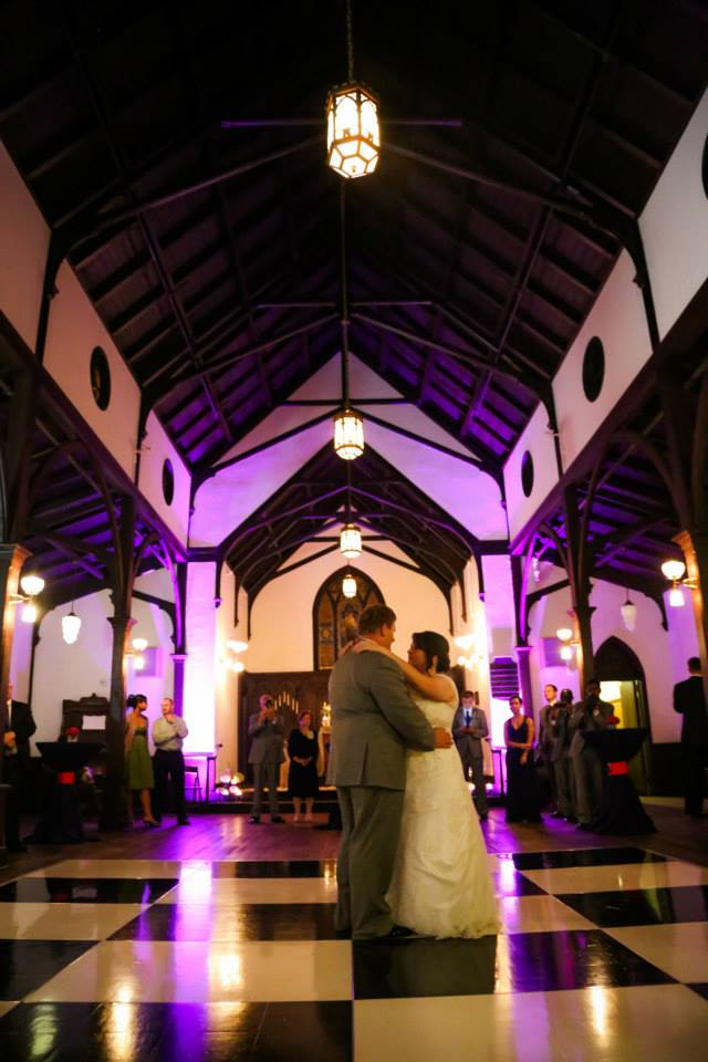 Hannah & Brandon DJ for Raleigh Wedding at All Saints Chapel Raleigh 6