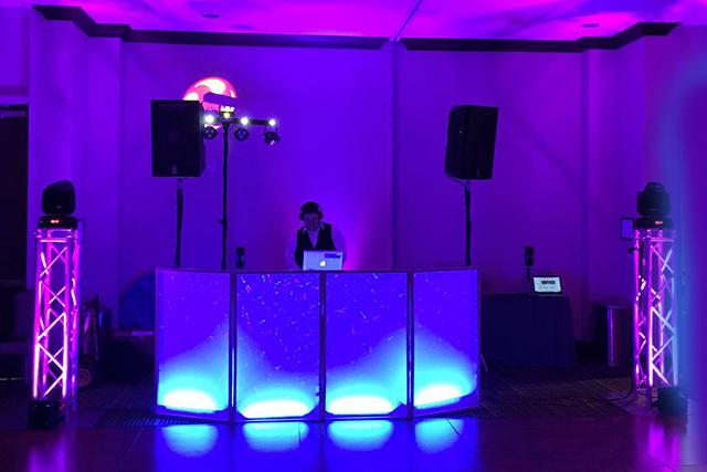 Corporate Event DJ - Upgraded Dance Floor Lighting Package
