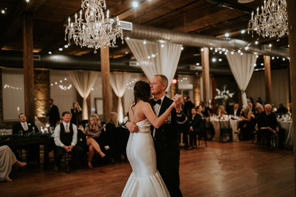 Kara & Bryant's Wedding at The Cloth Mill Wedding by Chelsea Collins Photography All Around Raleigh DJ
